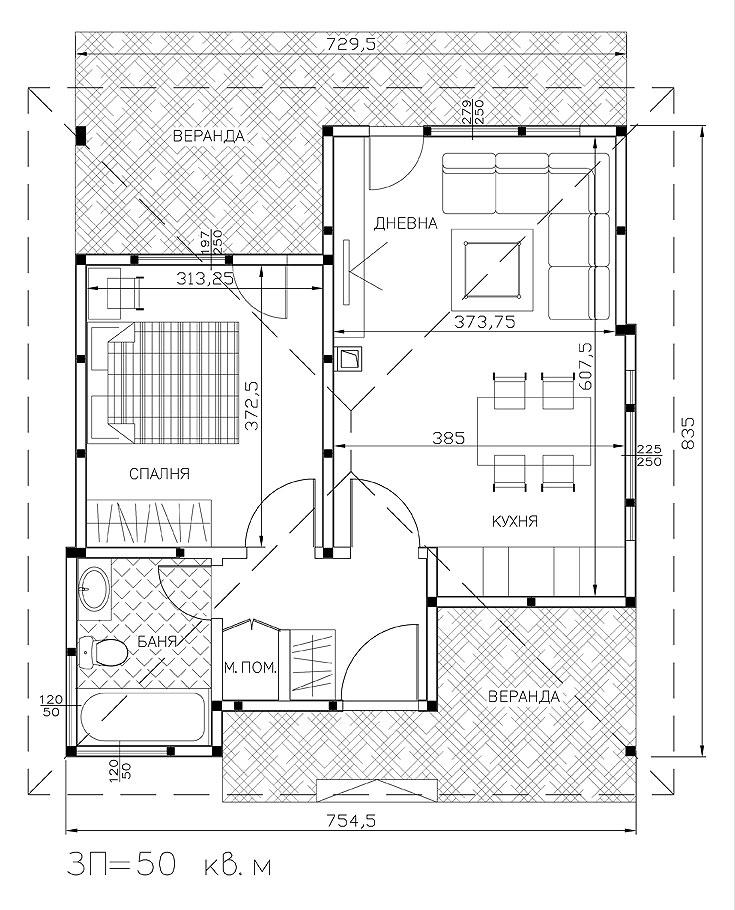 сглобяема едноетажна къща