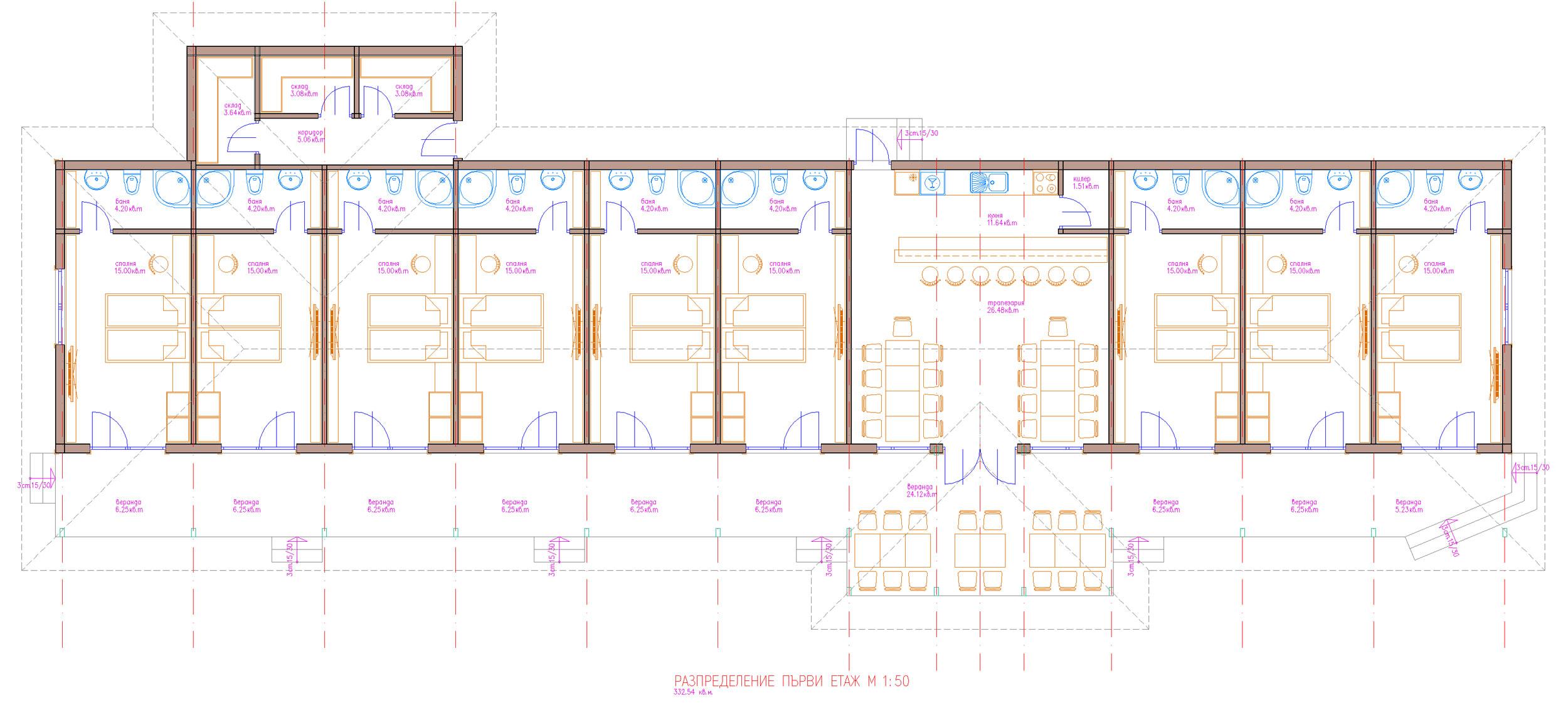 проект на мотел