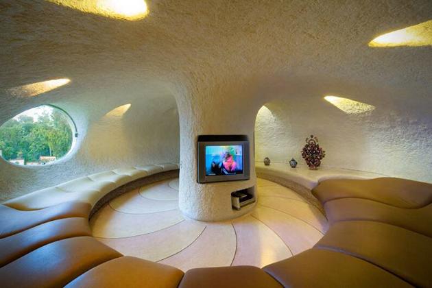 къща с форма на мидена черупка