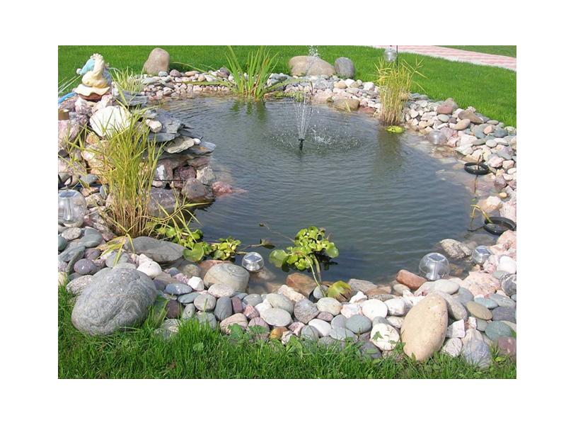 Pvc фолио и геотекстил за декоративни езера и форми за езера