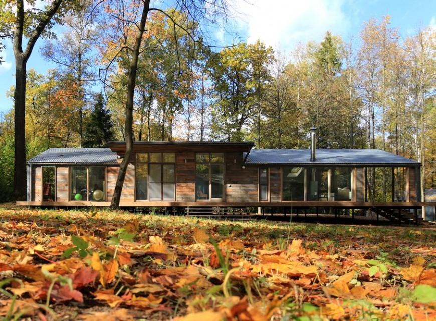 Сглобяема къща в гората